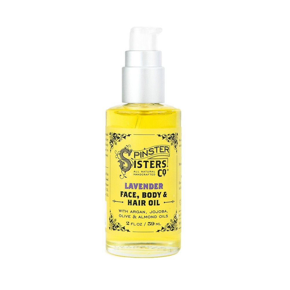 Image of Spinster Sisters Co. Lavender Face Body And Hair Oil - 2 fl oz
