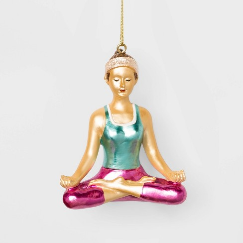 Yoga Girl Tree Ornament - Wondershop™ - image 1 of 2