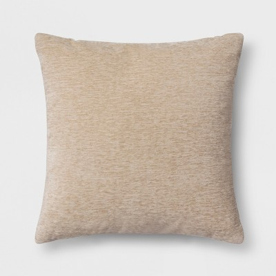Chenille Square Throw Pillow Neutral - Threshold™