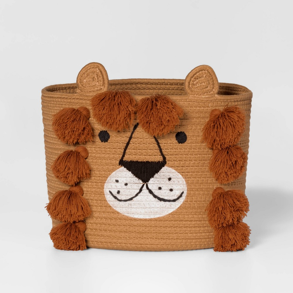 Lion Coiled Rope Basket Pillowfort 8482