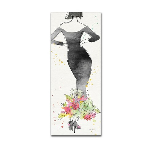 Floral Fashion I' by Anne Tavoletti Ready to Hang Canvas Wall Art - image 1 of 3