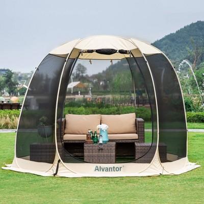 10' x 10' Pop Up Portable Gazebo Screen Tent - Alvantor