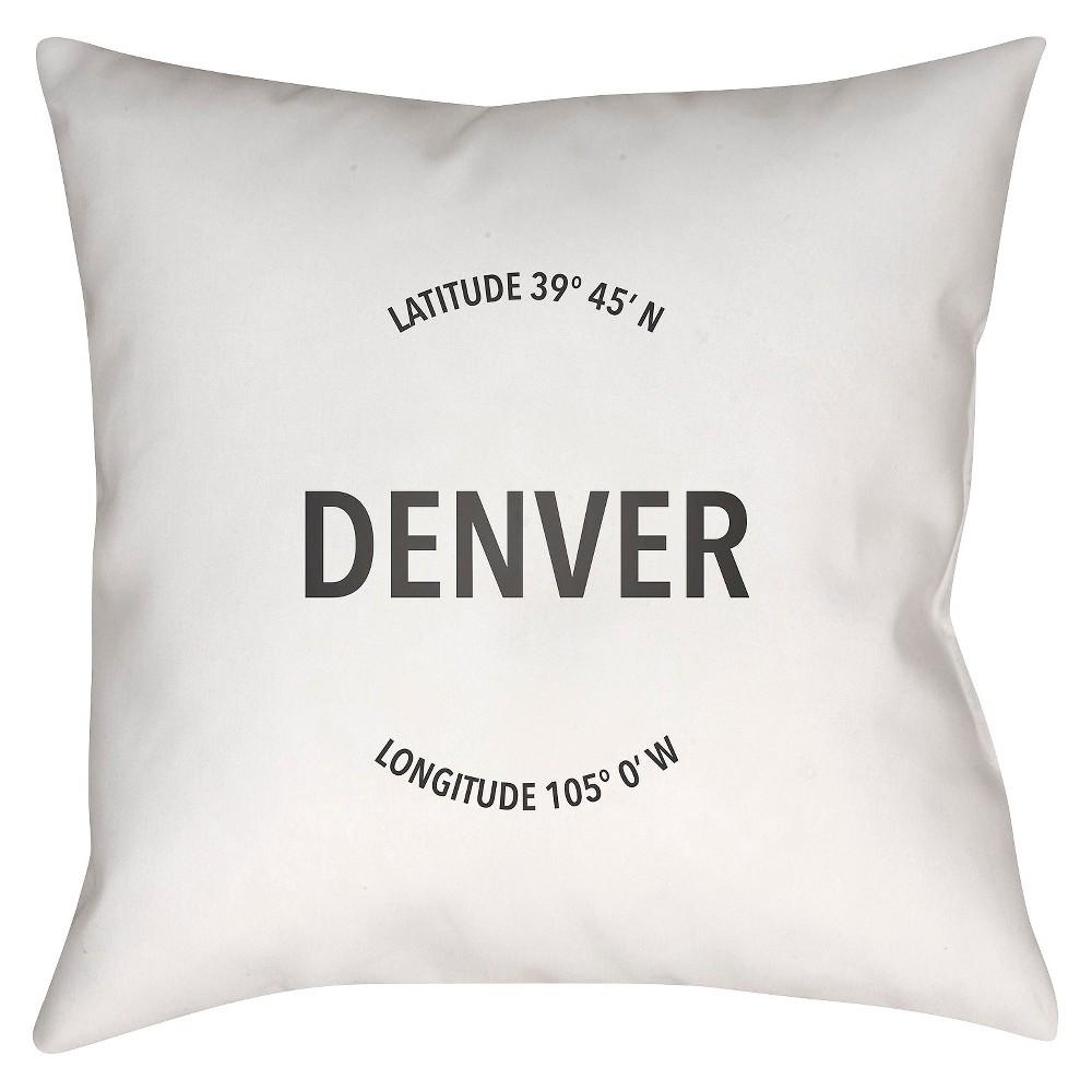 White City Compass Denver Throw Pillow 18