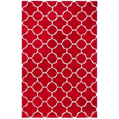 Lena Quatrefoil Design Tufted Accent Rug - Safavieh