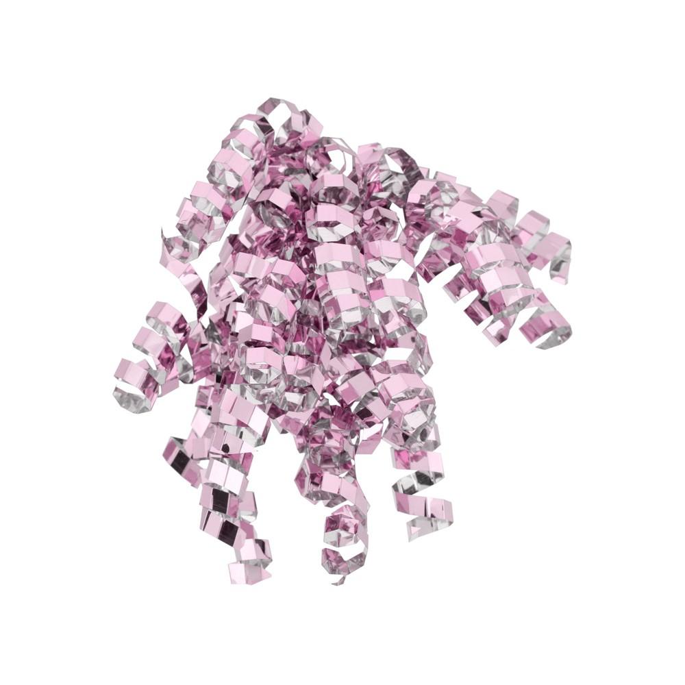 Pink Glitter Crimped Curl Swirl - Spritz
