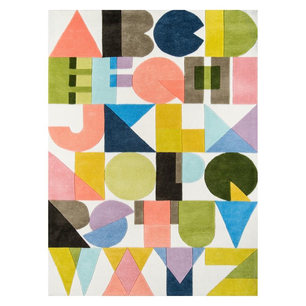 5'X7'6 Letters Tufted Area Rug - Novogratz By Momeni, Multi-Colored