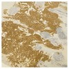 """(Set of 3) 15"""" x 35"""" Sandy Forest Gel Coat Canvas with Gold Foil Embellishment Taupe - image 4 of 4"""