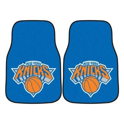 NBA New York Knicks Carpet Car Mat Set - 2pc