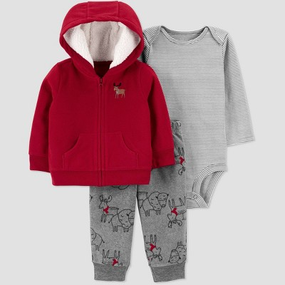 Baby Boys' Moose Top & Bottom Set - Just One You® made by carter's Red 3M