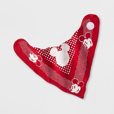 Junk Food Kids' Disney Mickey Mouse Reversible Bandana Bib - Red