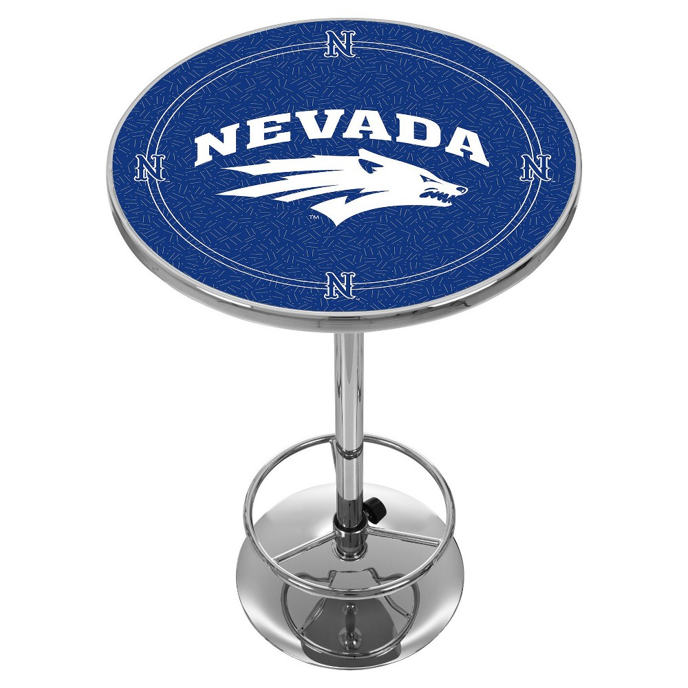 NCAA Nevada Wolf Pack Chrome Pub Table - Honeycomb