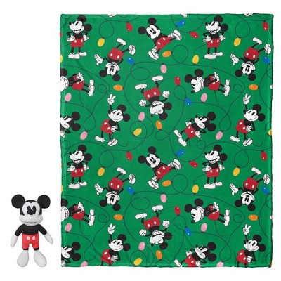 Mickey Mouse Knit Throw and Pillow Set