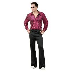 Men's Disco Shirt Costume Liquid Red And Black