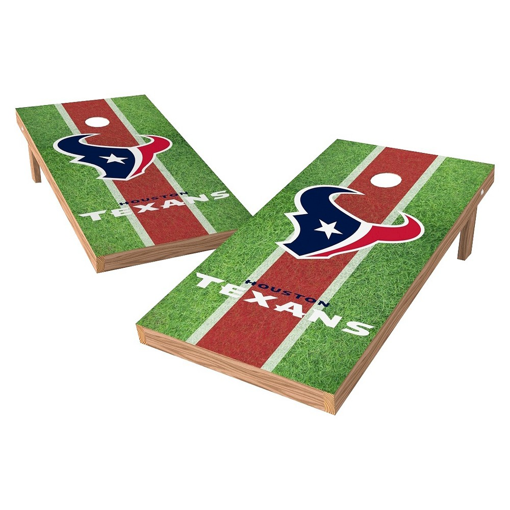Houston Texans Wild Sports XL Shield Field Cornhole Bag Toss Set - 2x4 ft.