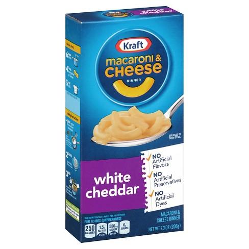 Kraft White Cheddar Macaroni Cheese Dinner 703 Oz Target
