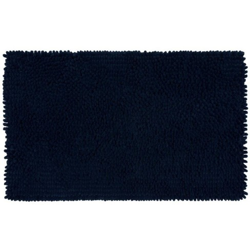 Memory Foam Bath Rug Dark Blue
