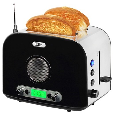 Elite Platinum 2-Slice Radio Toaster - Silver & Black