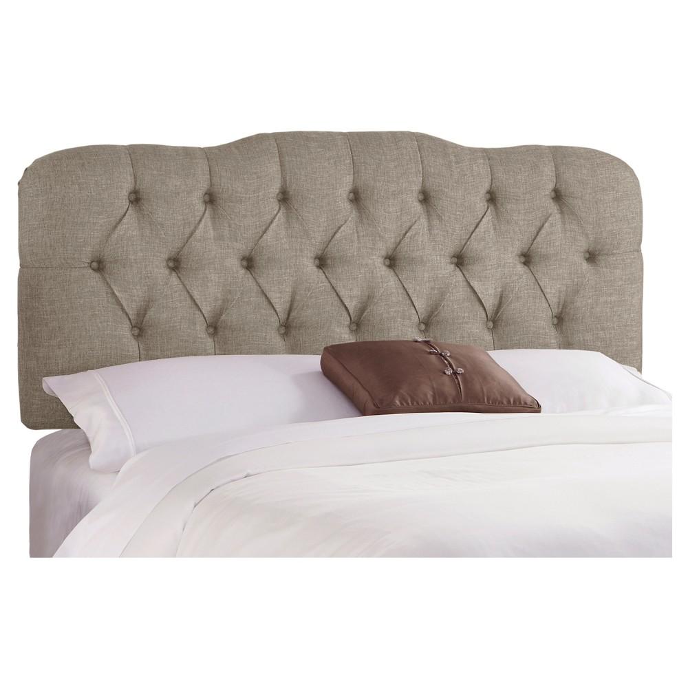 Seville Metallic Upholstered Headboard - Groupie Pewter - California King - Skyline Furniture