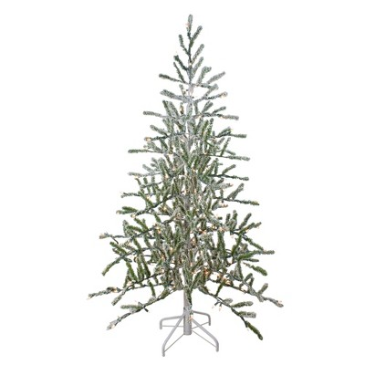 Northlight 5' Prelit Artificial Christmas Tree Flocked Alpine Twig - Warm White Lights