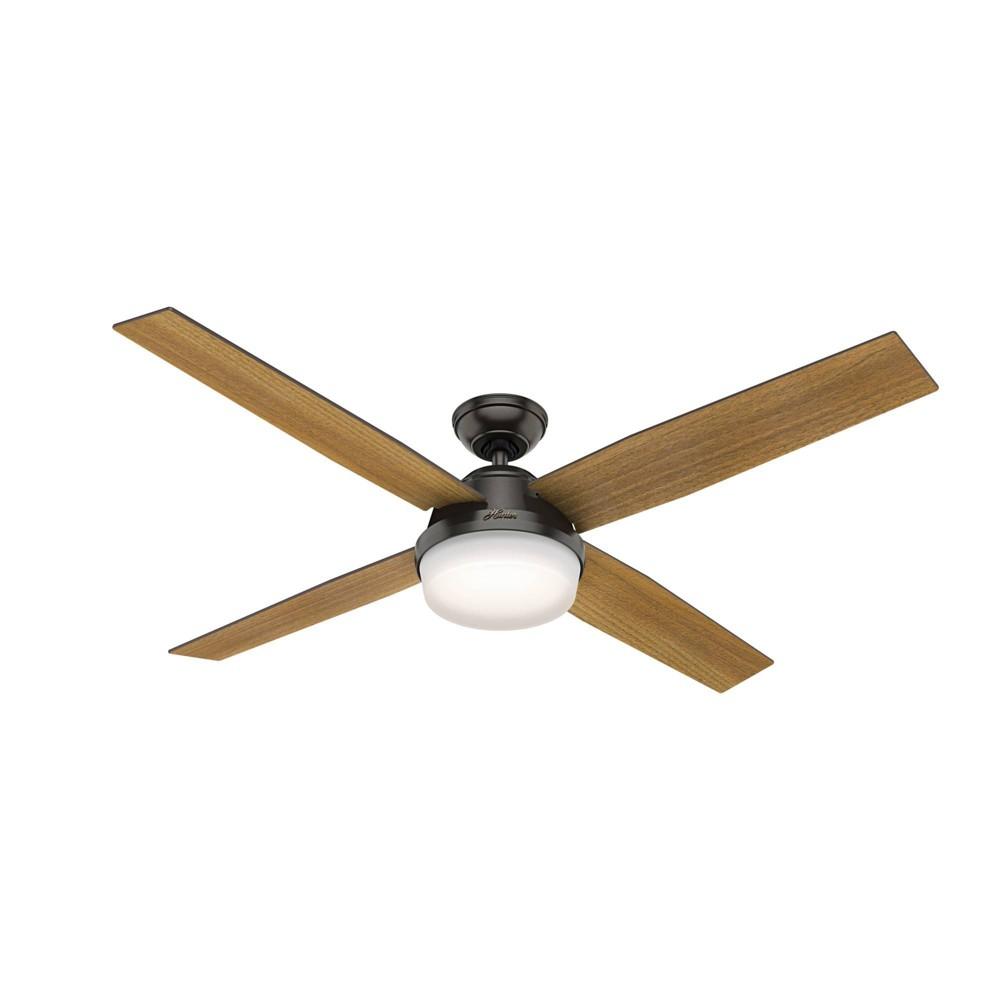 """Image of """"60"""""""" LED Dempsey Integrated Ceiling Fan with Light Bronze - Hunter Fan"""""""