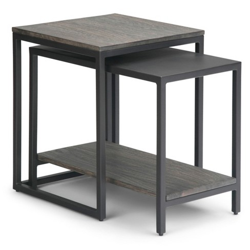 """16"""" 2pc Gardner Nesting Table Light Charcoal - Wyndenhall - image 1 of 4"""