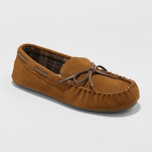 Men's Topher Moccasin Slippers - Goodfellow & Co™ Walnut - image 1 of 4