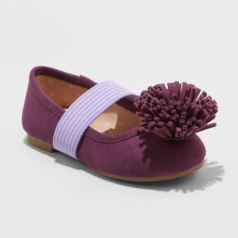 Toddler Girls' Oma Ballets - Cat & Jack™ Purple 12 - image 1 of 3