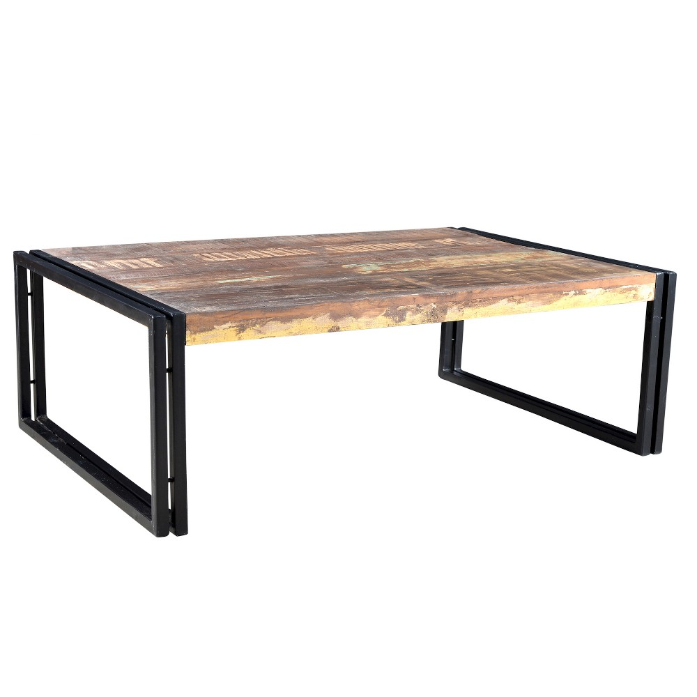 Rustic Reclaimed Wood Coffee Table Natural - Timbergirl