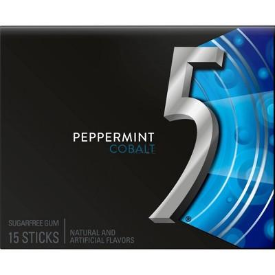 Wrigley's 5 Peppermint Cobalt Sugarfree Gum - 15ct