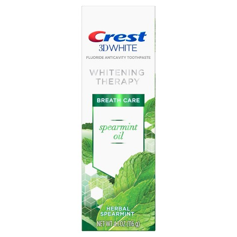 Crest 3D White Whitening Therapy Toothpaste For Sensitive Teeth Spearmint Oil - 4.1oz - image 1 of 6