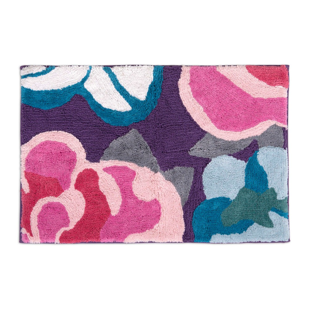 Image of Garden Fall Bath Rug Pink/Purple - Allure Home Creation