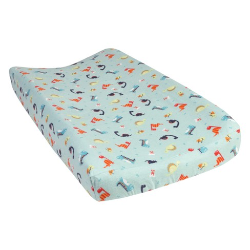 Trend Lab® Deluxe Flannel Changing Pad Cover - Dinosaurs - image 1 of 3
