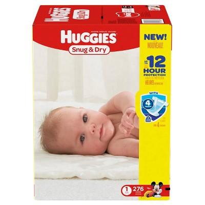 Huggies Snug & Dry Diapers - Size 1 (276ct)