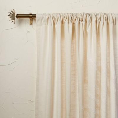 "95""x50"" Sunburst Light Filtering Curtain Panel Ivory - Opalhouse™ designed with Jungalow™"
