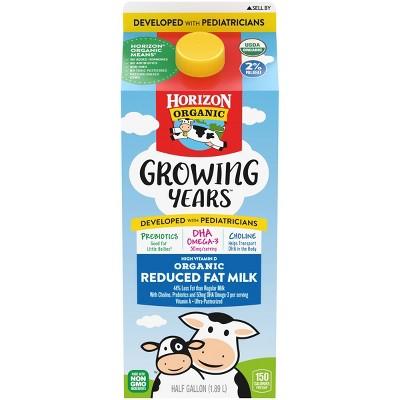 Horizon Organic Growing Years 2% Milk - 0.5gal