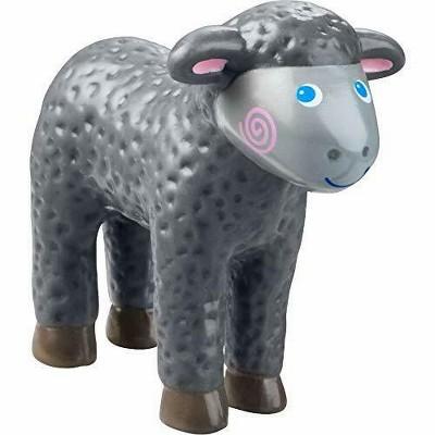 "HABA Little Friends Black Lamb - 2.25"" Farm Animal Toy Figure"