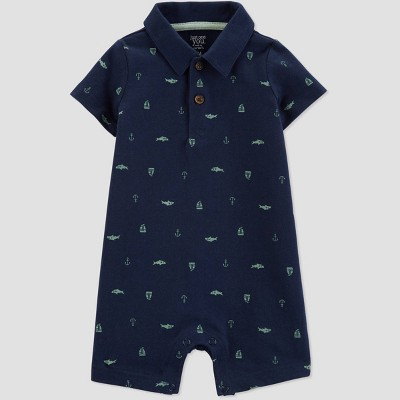 Baby Boys' Shark and Ship Romper - Just One You® made by carter's Navy Blue 6M