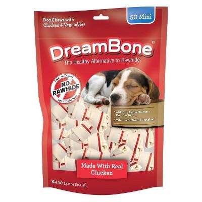DreamBone Mini Bones with Chicken Dog Treats - 50ct