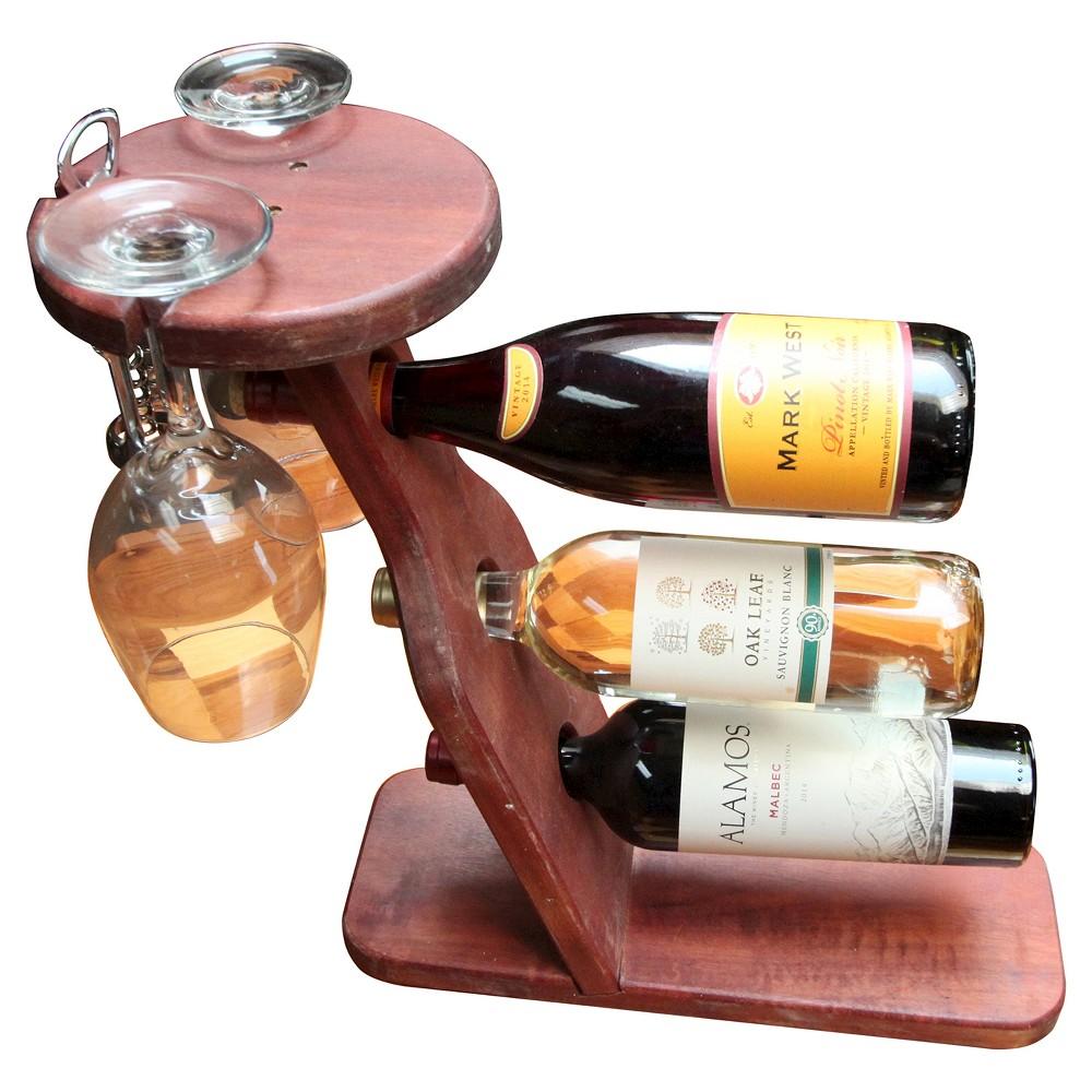 Table Top 17 Wine Rack Western Clear Oil Finish - Red Cedar - Gronomics