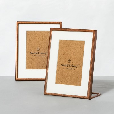 Set of 2 Antique Finish Metal Frames Copper - Hearth & Hand™ with Magnolia