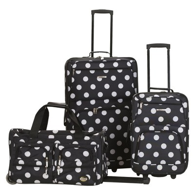 Rockland Spectra 3pc .Expandable Rolling Luggage Set- Black Dot