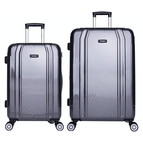 InUSA SouthWorld 2pc Hardside Spinner Luggage Set - Dark Gray Carbon - image 1 of 4