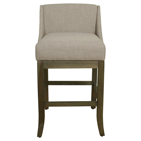 29 Low Back Nailhead Trim Barstool Gray Homepop Target