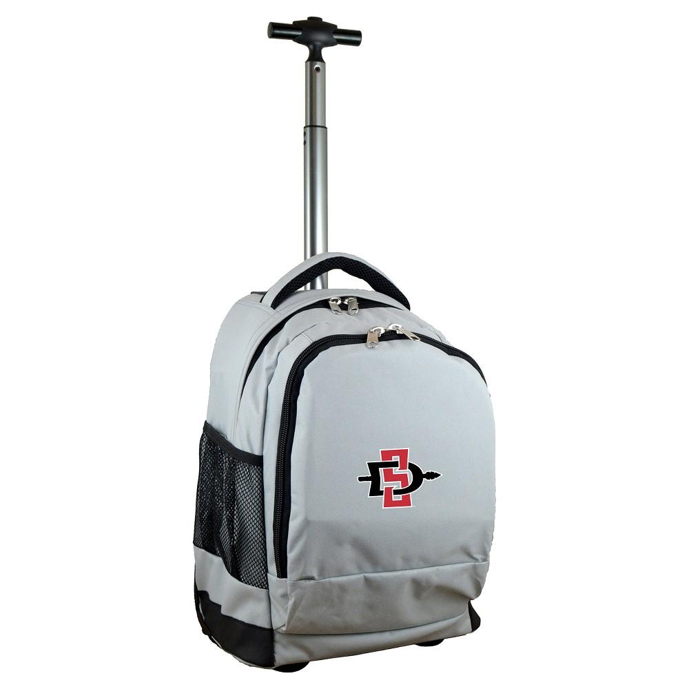 Ncaa San Diego State Aztecs Gray Premium Wheeled Backpack