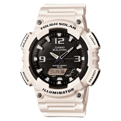 Men's Casio Solar Sport Combination Watch - Glossy White (AQS810WC-7AVCF)