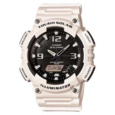 Men's Casio Solar Sport Combination Watch - Glossy White (AQS810WC-7AVCF)
