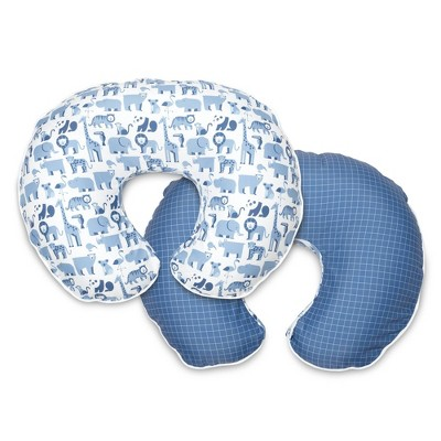 Boppy Nursing Pillow Slipcover Premium Animal Sketch - Blue Zoo