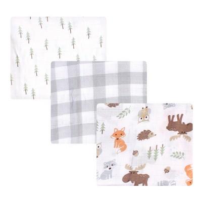 Hudson Baby Infant Boy Cotton Muslin Swaddle Blankets, Woodland, One Size