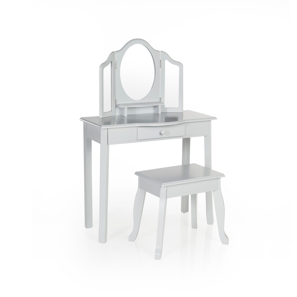Classic Vanity and Stool Gray - Guidecraft
