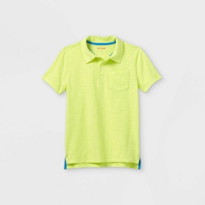 Boys' Short Sleeve Knit Polo Shirt - Cat & Jack™ Yellow